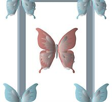 Structured Butterfly Frame by Jennifer Heseltine