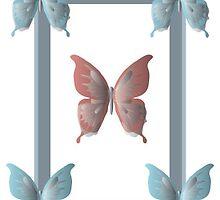 Structured Butterfly Frame by Jennifer Heseltine