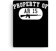 Property of AR15  Canvas Print
