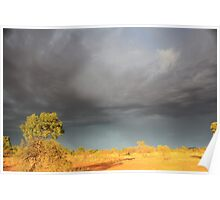 Storm Clouds in the Outback Poster