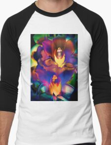 4408 Psychedelic Orchids  Men's Baseball ¾ T-Shirt
