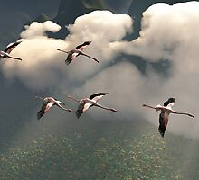 Flamingos of the Cloud Forests by Ken Gilliland