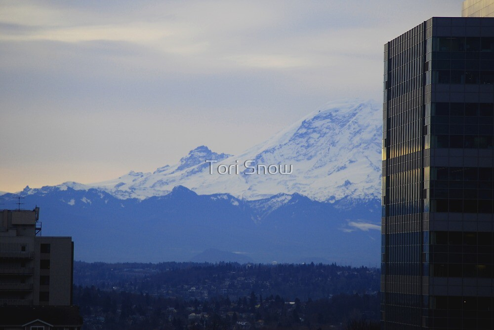 Mt. Rainier from Seattle by Tori Snow