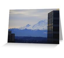 Mt. Rainier from Seattle Greeting Card