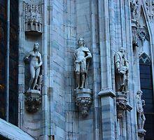 Milan. Statues on the Wall of the Duomo. Italy 2010 by Igor Pozdnyakov