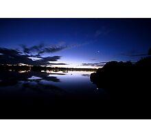 The Tasmanian semi-night where the moon hides Photographic Print