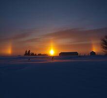 God's Winter Rainbow. by maragoldlady