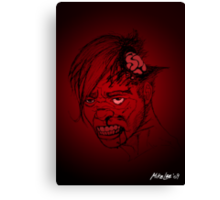Even Zombies Have Bad Hair Days Canvas Print