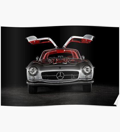 1957 Mercedes-Benz 300SL Gullwing Poster