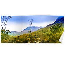 Tasmania - Trekking around Lilla lake at Cradle Mountain Poster