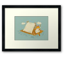 Chicken on a Raft Framed Print
