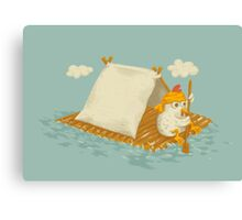 Chicken on a Raft Canvas Print