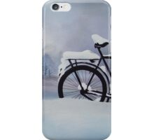 Bike in the Snow iPhone Case/Skin