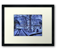 Snow on Alderney Framed Print