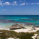 Panorma of Basin beach, Rottnest Island by Richard Majlinder