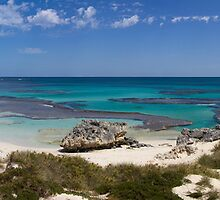 Panorma of Basin beach, Rottnest Island by Richard Majlinder