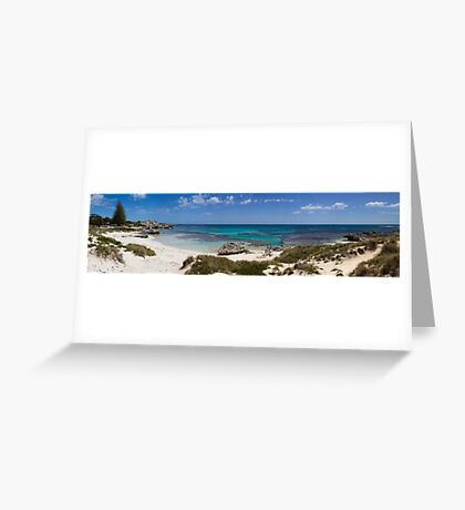 Panorma of Basin beach, Rottnest Island Greeting Card