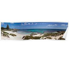 Panorma of Basin beach, Rottnest Island Poster