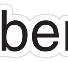 über³ v 1.0 blanc Sticker