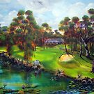 the 4th Par 4 town of 1770 &Agnes Water golf course by robert (bob) gammage