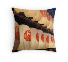 Line of Lanterns Throw Pillow