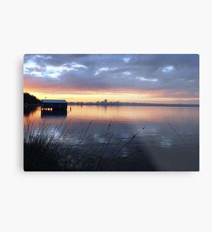 Crawley Boatshed by Sunrise Metal Print