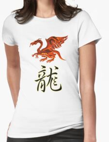 Dragon Chinese Zodiac Designers T-shirt and Stickers Womens Fitted T-Shirt