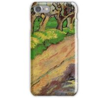 Pollard Willows by Vincent van Gogh. Rural, country road landscape oil painting. iPhone Case/Skin