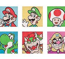 Nintendo Mario and Wario Squares by Owlcrook