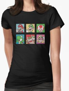 Nintendo Mario and Wario Squares Womens Fitted T-Shirt