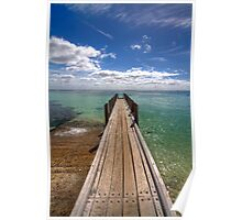 Small pier at August bay Poster