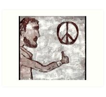 Thumbs-Up for Peace Art Print