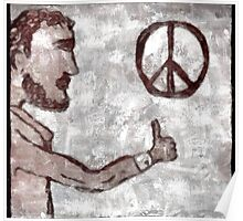 Thumbs-Up for Peace Poster