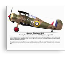 Gloster Gladiator MKII Canvas Print