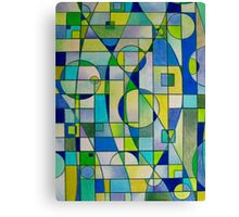 Prismacolor Geometric - Blues/Greens - Pattern Canvas Print