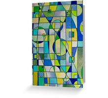 Prismacolor Geometric - Blues/Greens - Pattern Greeting Card