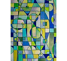 Prismacolor Geometric - Blues/Greens - Pattern Photographic Print