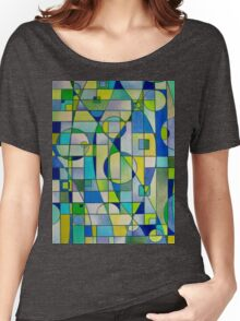 Prismacolor Geometric - Blues/Greens - Pattern Women's Relaxed Fit T-Shirt