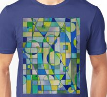 Prismacolor Geometric - Blues/Greens - Pattern Unisex T-Shirt