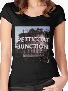 Petticoat Junction water tower Women's Fitted Scoop T-Shirt
