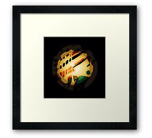 Glow light globe art  Framed Print