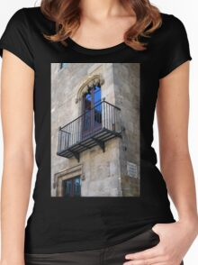 Ornate Balcony Women's Fitted Scoop T-Shirt