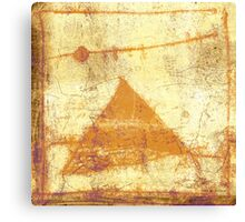 pyramid and moon Canvas Print
