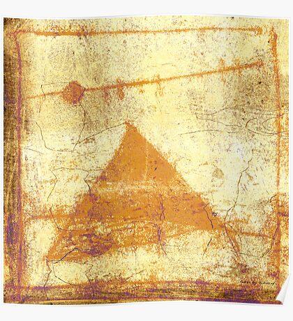 pyramid and moon Poster