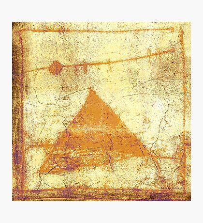 pyramid and moon Photographic Print