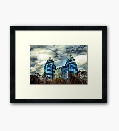 King and Queen Building Framed Print