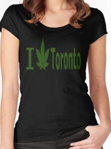 0005 I Love Toronto Women's Fitted Scoop T-Shirt