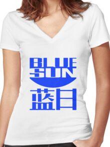 Blue Sun Women's Fitted V-Neck T-Shirt