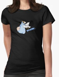 Stork - It's a boy! Womens Fitted T-Shirt