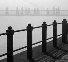 Pedestrians in the fog by awefaul